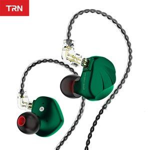 In TRN Hybird VX 6BA+1DD Ear Earphone HIFI Monitor Running Sport Headset Earbud with 2Pin 0.75MM Connector TRN V90 BA5 BT20S