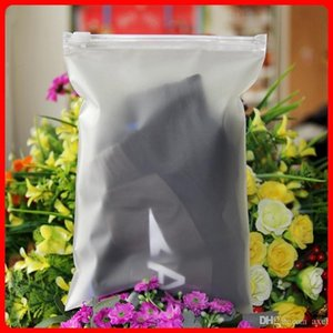 14x20cm CPE Frosted Translucent Clothing Storage Packaging Zipper Plastic Pouch Matte Reusable Zip Lock Garment Package Dress Self Seal Bags