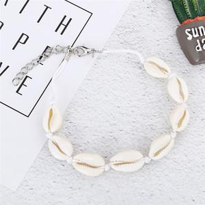 Vsco Puka Shell Anklets 대 Vsco Girl 짠 Natural Shells 하와이 스타일 캐주얼 손 장식 Beach 조개 Anklets