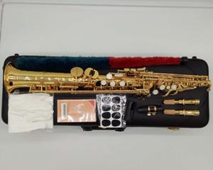 Yanagisawa Sassofono Soprano S-WO20 Lacca dorata Sax Soprano Bocchino Legatura Ance Anelli Accessori per strumenti musicali