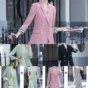 Chiffon coat Suspender saia vestido de terno fino celebridade Internet terno das mulheres + vestido estampado Daisy saia suspender