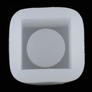 Геометрическая Круглая площадь Силикон Горшок Mold Бетон Цемент Смола Cast Mold