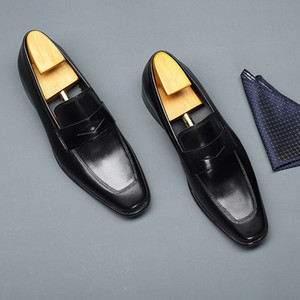 2020 with Box New Arrivals Mens Loafers Square Toe Shoes Fashion Designer for Men Dress Loafer Shoes Business Men's shoes Size Euro 48