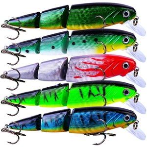 110Mm 14.7G Multi Section 3D Bionic Bait Plastic Hard Bait Fishing Artificial Lures Colorful Fishing Bait Fish Accessories ikRlq
