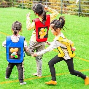 con 5 bolas Palo Jersey Dodgeball Adhesivo bola chaleco chalecos juego creativo al aire libre Gimnasio Niños Kinder Deportes interesantes
