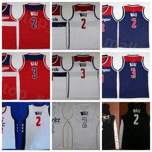 Дешевые Баскетбол Джон Уолл-Джерси 2 Брэдли Бил 3 Мужчины Округ издания Заработанные Город Все Stithced команды Navy Синий Красный Белый
