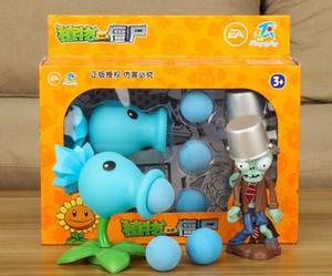 Plants vs Zombies PVZ Peashooter Acción de anime regalos modelo de la figura de juguete juguetes para niños de alta calidad Lanzamiento blandos de plantas