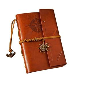 livres Carnet de Voyage de jardin vendange papiers kraft revue spirale portable Pirate pas cher étudiant Notepads école livres classiques