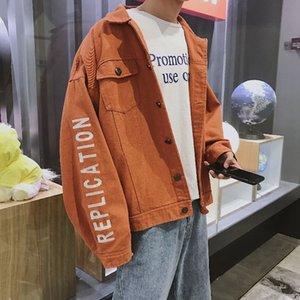 Men's Jackets 2021 Spring And Autumn Korean Version TrendHong Wind Denim Jacket Workwear