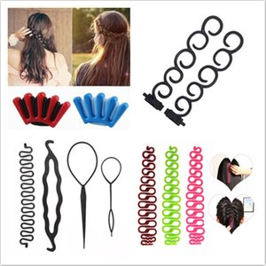 tyling Tools & Appliances Braiders 9 Styles Lady French Home Use Hair Braiding Tool Weave Braider Roller Hair Twist Styling Tool DIY ...