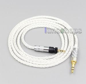 8 Çekirdekli Gümüş Kaplama OCC Kulaklık Kablo İçin Shure SRH840 SRH940 SRH440 SRH750DJ Philips SHP9000 SHP8900 LN006535