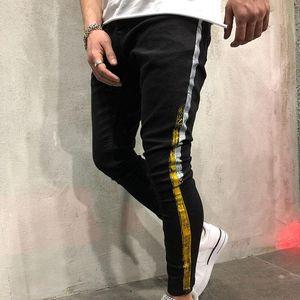 Mens Cool Designer Pencil Jeans Skinny Ripped Destroyed Stretch Slim Fit Hop Hop Pants With Holes For Men