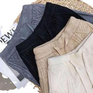 2020 Loose Geometric Pant High Waist Trousers Elastic Polyester Harem Four Colors Wool Pant Radish Pant