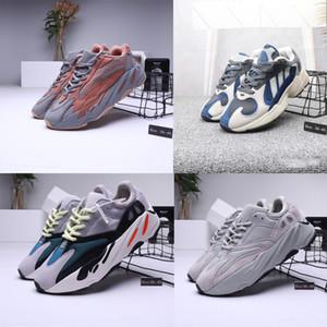 2019 Yeni Yüksek Kalite 700 Koşucu Kanye West Leylak Dalga Dalga Erkek Kadın rahat ayakkabılar 700 s Spor Koşu Sneakers Tasarımcı ayakkabı