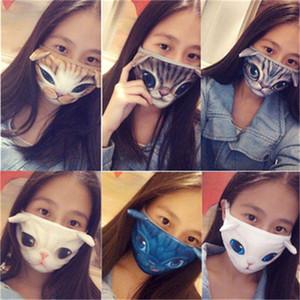 2020 Earloop respiración Respiradores plegable Boca máscara de impresión del gato del perro Mascherine Y Otoño Invierno Unisex Protección de Adultos 3 5CP H1