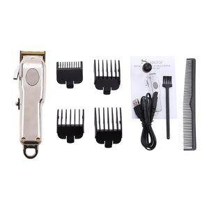 SK-807B professional oil head USB charging 1800mah hair cutting machine cordless beard trimmer electric hair clippers silver black