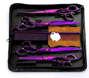 """Kit vendita calda 4Pcs / Set professionale parrucchiere cesoie Haircut strumento con il pettine per Pet Grooming Hair Styling 7.0"""""""