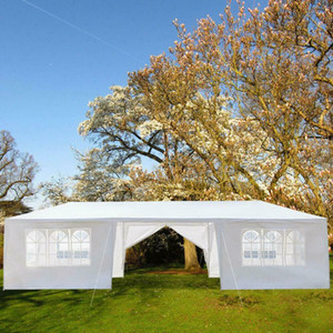 10'x30' Upgrade Spiral Tube Canopy Party Wedding Tent Gazebo Pavilion 8 Walls