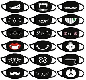 Fast Free shipping Cartoon expression pure cotton masks cute warm protective face mask personality funny masks Personality mask