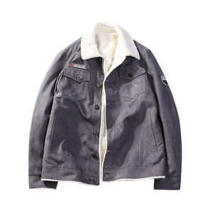 Herren-Jacken Cottom Winter warm Demin Jacke verdicken Vintage-Jeans-Mantel für Männer Outwear Kleidung lose plus Größe M-5XL