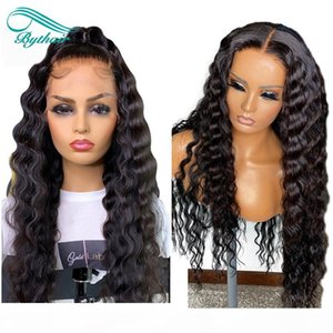 Bythair Curly Lace Front Human Hair Wigs Pre Plucked Hairline Brazilian Remy Hair Full Lace Wig With Baby Hair Natural Color 8-26'&#039