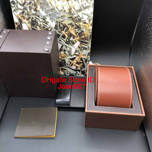 Best Quality Brown Color leathe Boxes Gift Box 1884 Watch Box Brochures Cards Black Wooden Box For Watch Includes Certificate New Bag