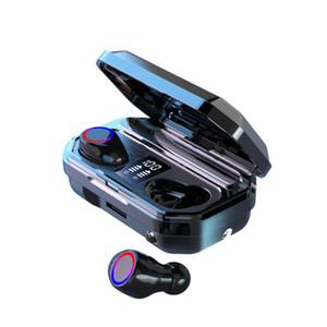 M12 TWS Wireless Headset Bluetooth 5.0 fone de ouvido LED de Alimentação Display 9D Surround multifunções com lanterna Headphones
