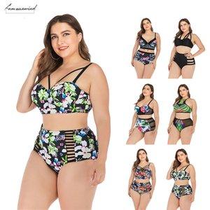 Bikini Suit Ladies Plus Size Swimsuit Independent Two Piece Biquini Swimsuit Sexy Big Breasts Push High Bra Split Mujer Swimsuit