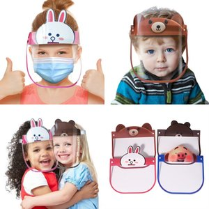 US navires Enfants de protection Visage Bouclier Masque Anti Cracher Fog Enfants Effacer Full Face couverture en plastique transparent pleine visage Visor