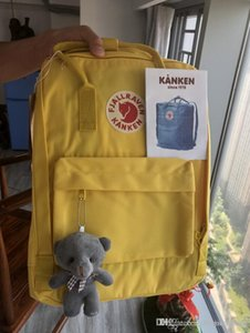 2020 Hot Item Fjallraven Yellow Canvas Backpacks Fashion Cute Students Large Capacity Schoolbag Shoulder Sponge Damping Bag On Sale Outlet