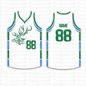 Top Custom Basketball Jerseys der Männer Stickerei Logos Jersey Freies Verschiffen billig Großhandel jeder Name eine beliebige Anzahl Größe S-XXLyiu8