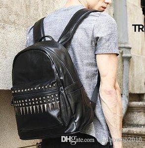 منفذ العلامة التجارية الرجال حقيبة يد متعددة الوظائف المحمولة على ظهره الأزياء برشام حقيبة الطالب شخصية برشام حقيبة السفر