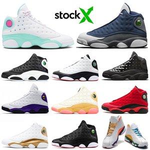 nike air jordan retro 13 Stok x Flint jumpman 13 s erkekler basketbol ayakkabı 13 TERS O GOT OYUN Bahçesi kadın erkek eğitmenler Spor Sneakers