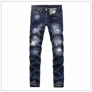 Sıska Pantolon Tasarımcı Delik Elastik Fermuar Jeans 2019 Vogue Erkek Jeans İlkbahar Yeni Medusa Derin Mavi