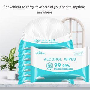 En la nave libre desinfección Dipe 75% toallitas con alcohol por 10 piezas para un paquete de 75% desinfección toallitas NO lavado a mano de la piel Dipe
