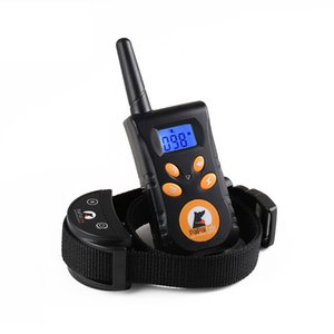 rechargeable waterproof electronic dog training collar stop barking lcd display remote electronic shock training collars pet products