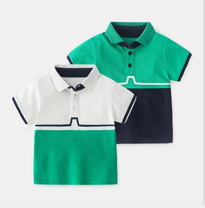 2020 best selling baby short sleeve T-shirt summer children's Polo Shirt Summer Boys' pure cotton half sleeve color matching summer top