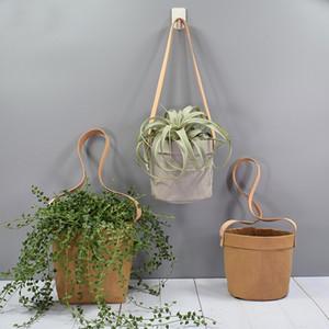 neue heiße !!! Kraft Papiertüten Wandbehang Papierblumentopf Dekoration Aufbewahrungstasche abwaschbar Papier Pflanzer Mischfarbe