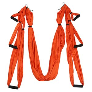 1.5x2.5m Yoga Inverted Tool Anti-Gravity Hammock Swing Fabric Swing - Orange, L