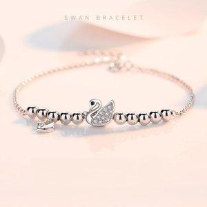 S925 Gümüş Swan kadın bilezik moda markası Kore versiyonu doğum günü hediyesi kız arkadaşı Takı Bilezik Moda sıcak satış Bilezik