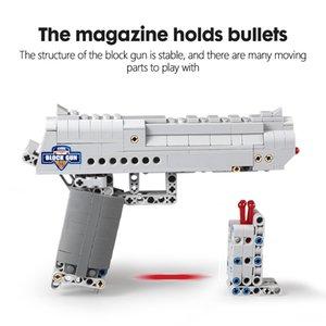 선물 솜씨 도시 야외 장난감 조립 빌딩 블록 총 권총 DIY 권총 우지 기관단총 모델 빌딩 블록