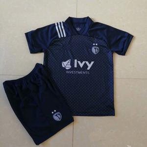 Wholesale 2020 Sporting Kansas City Soccer Kits Men Football Sets 20 21 MLS ZUSI Soccer Jersey Shorts Size S - 2XL Uniforms