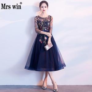 MRS WIN 2019 Neue Blume Bankett Abendkleid Mode Elegante Langabschnitt Jährliches Meeting Host Kleid Weibliche Party Abendessen Kleid L Y19042701