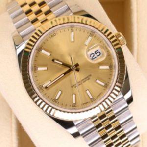 Дизайнерские часы Datejust 41 мм стальной циферблат механические автоматические мужские алмазные часы роскошные часы мужские Reloj бизнес 126334 наручные часы
