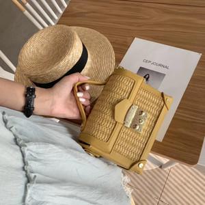 Nuove borse di marca borsa di cuoio dell'unità di elaborazione di lusso delle donne Borse di pane di paglia del progettista Flap Crossbody Borse Borse a tracolla Messenger Bag