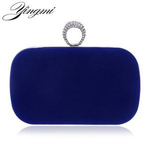 Yingmi 2017 Rings Diamonds Women Evening Bags Purse Metal Clutches Handbags Evening Bags For Wedding Crystal Luxurious Wallets Y190627