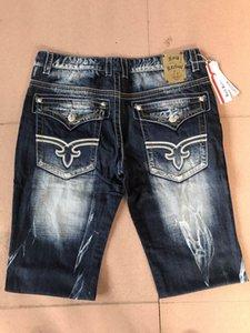 2018 год новый стиль Мужские шорты Robin Rock Revival Jeans Кристалл Шпильки Denim брюки конструктора мужские джинсы брюки мужские плюс размер 30-42