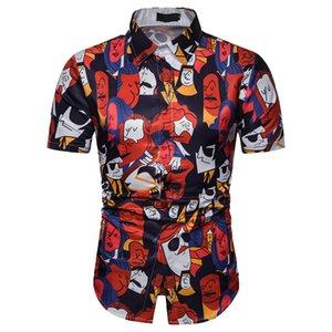 Summer Hawaiian Shirt Casual Fashion Mens 3D Color Print Trend Color Short-Sleeve Shirt Blouse Mens Shirts Casual Slim Fit 10.7