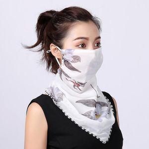 Темперамент шеи дышащая маска новая весна и лето анти-УФ-шифон тонкая вуаль солнцезащитное многофункциональный большой маска шарф GD181