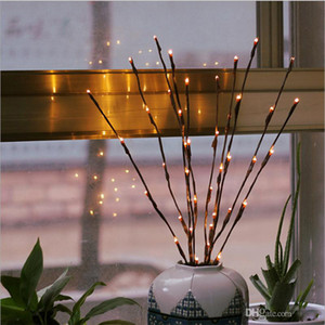 Warm White 20LEDS Led Tree Light Alimentato a batteria Fata natalizia Flessibile String Decorazione di cerimonia nuziale Lampada da tavolo interna Luminarias Night Light